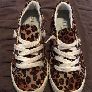 Girls leopard slip ons!